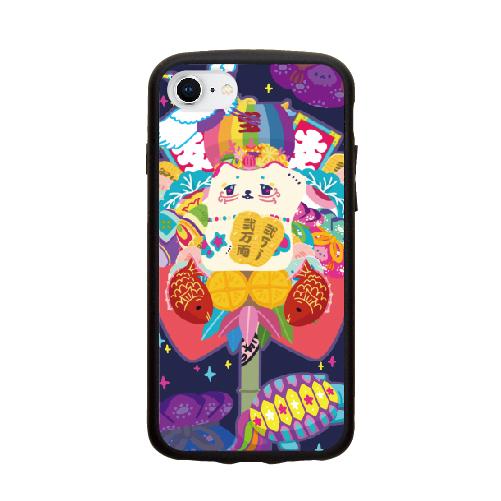 iPhone8/7/6s/6 ほりたみわ 招き猫熊手